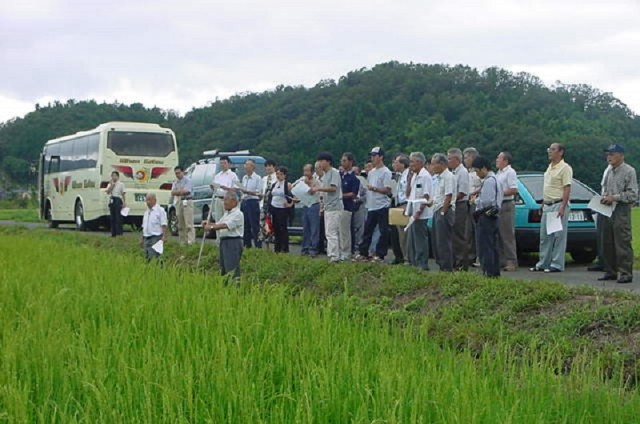 """A group """"Supporting Goriki """"visiting the seed orchard"""